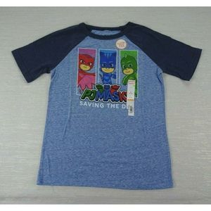 🧁3/$30 NWT PJ Masks Blue Raglan T Shirt Boys 6 8